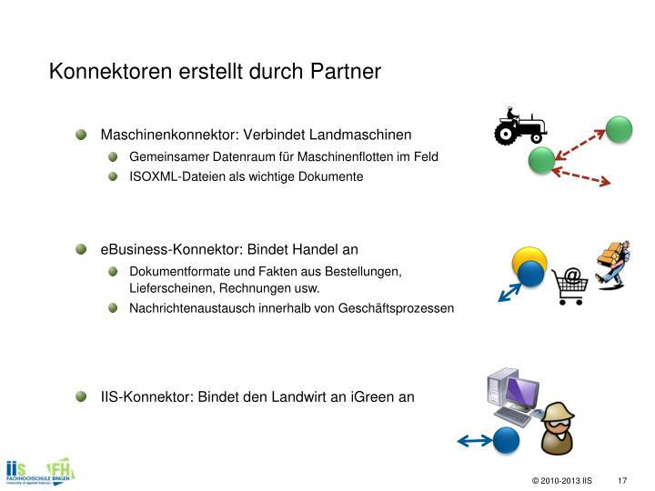 Konnektoren erstellt durch Partner