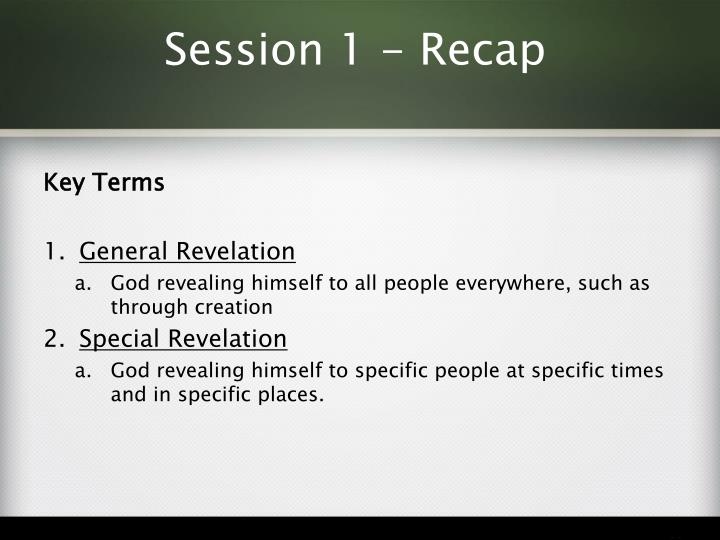 Session 1 recap1