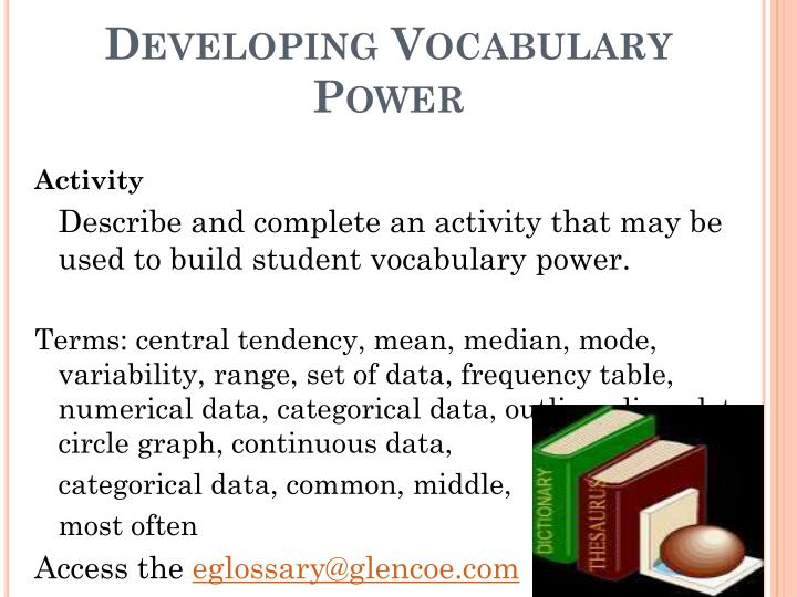 Developing Vocabulary Power