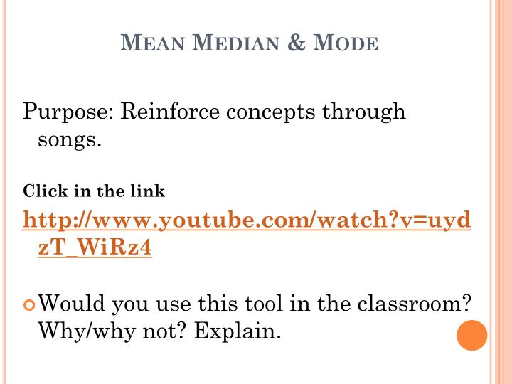Mean Median & Mode