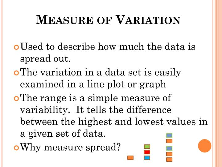 Measure of Variation