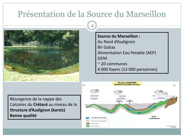 Présentation de la Source du Marseillon