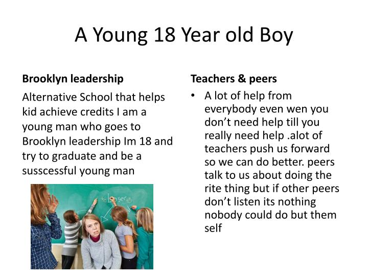 A young 18 year old boy
