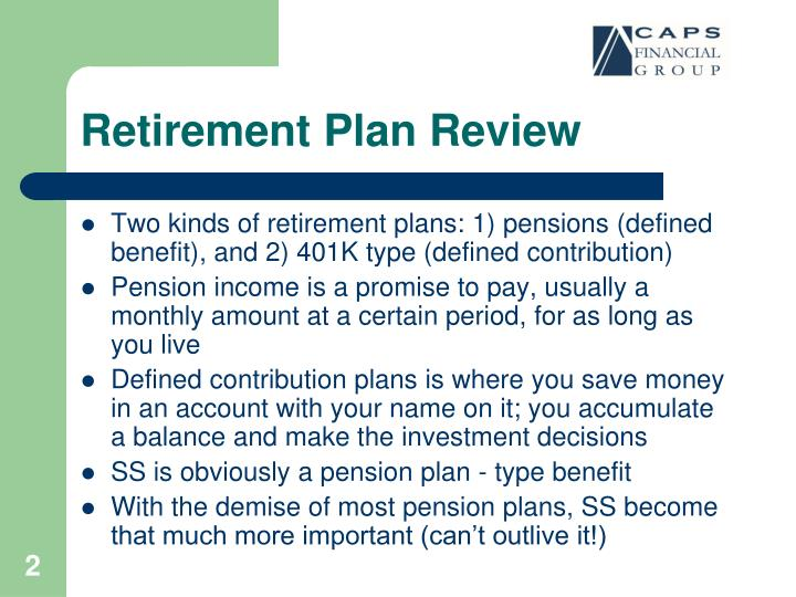 Retirement plan review
