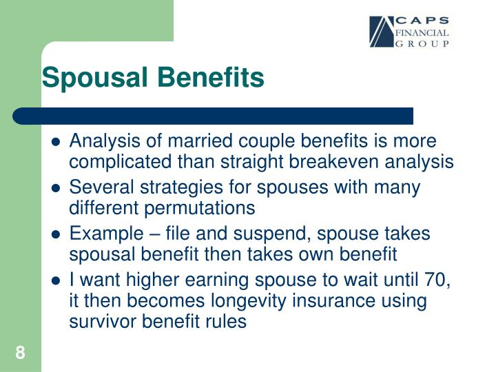 Spousal Benefits