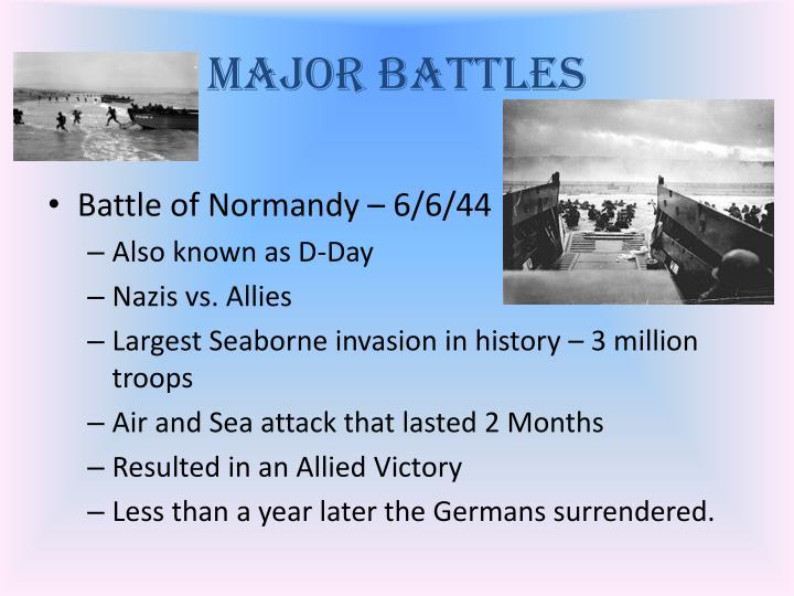 Major Battles