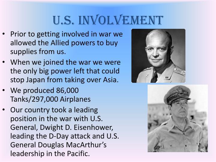 U.S. Involvement