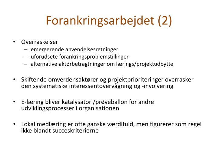 Forankringsarbejdet (2)