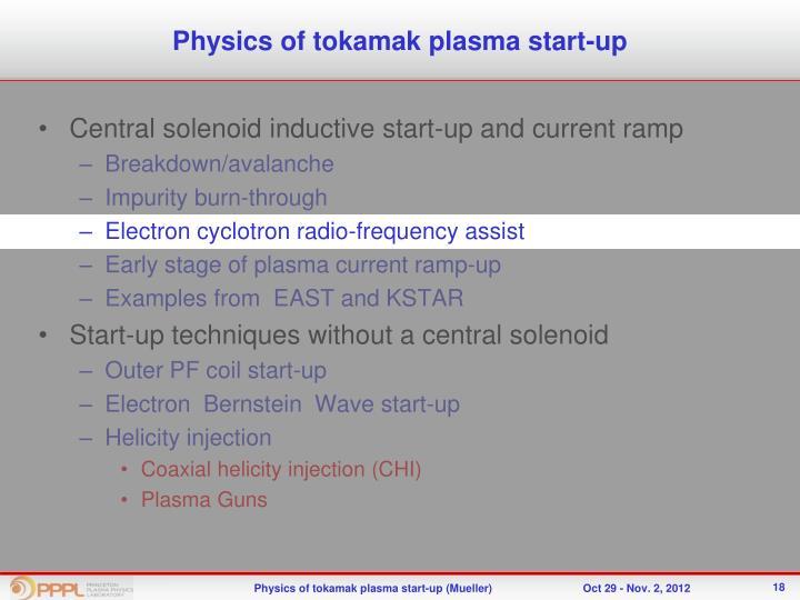 Physics of tokamak plasma start-up