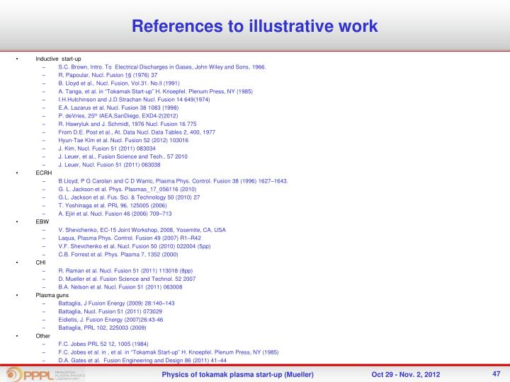 References to illustrative work
