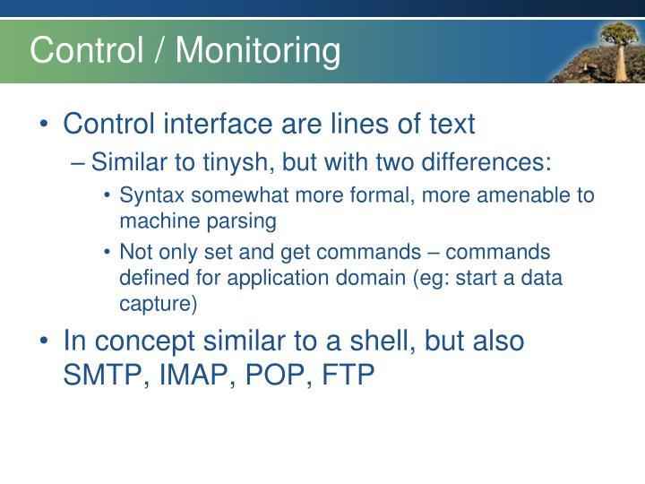 Control / Monitoring