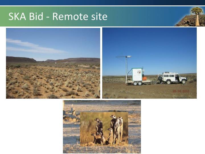 SKA Bid - Remote site
