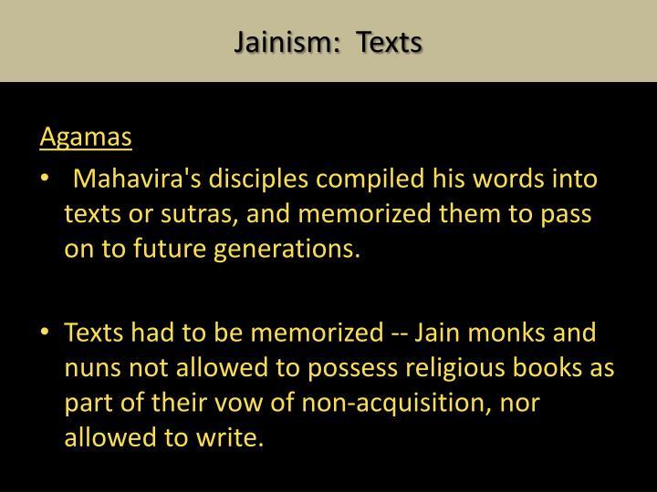Jainism:  Texts