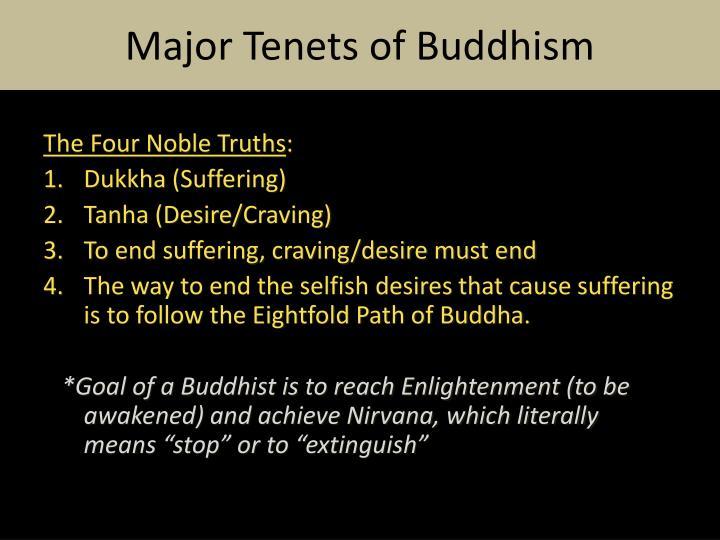 Major Tenets of Buddhism