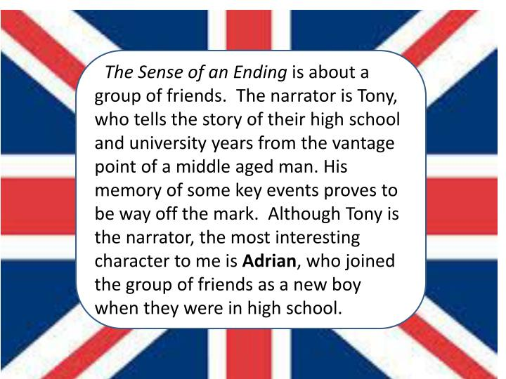 The sense of an ending by julian barnes presented by mrs frink