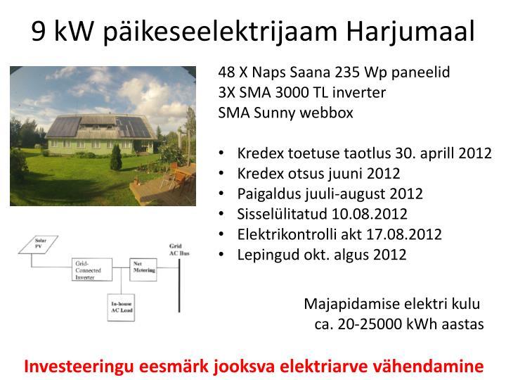 9 kW päikeseelektrijaam Harjumaal
