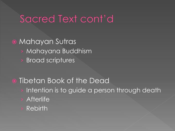 Sacred Text cont'd