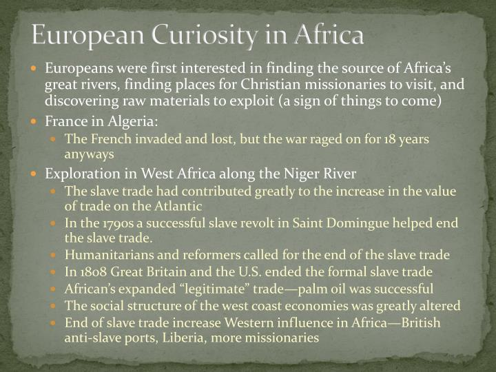 European Curiosity in Africa