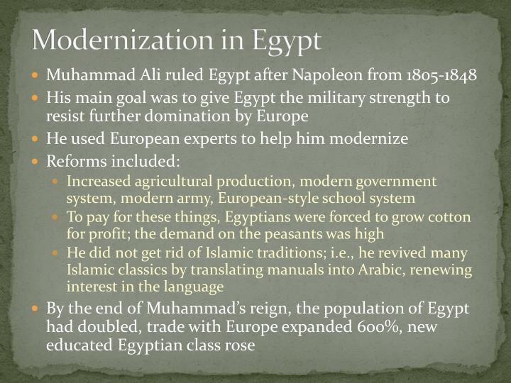 Modernization in Egypt