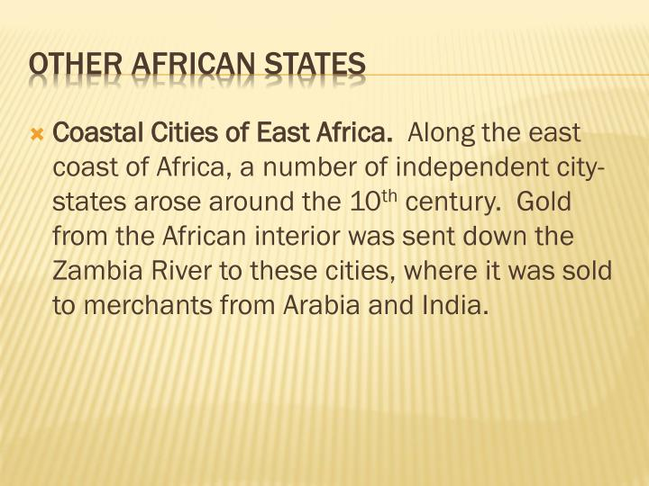 Coastal Cities of East Africa.