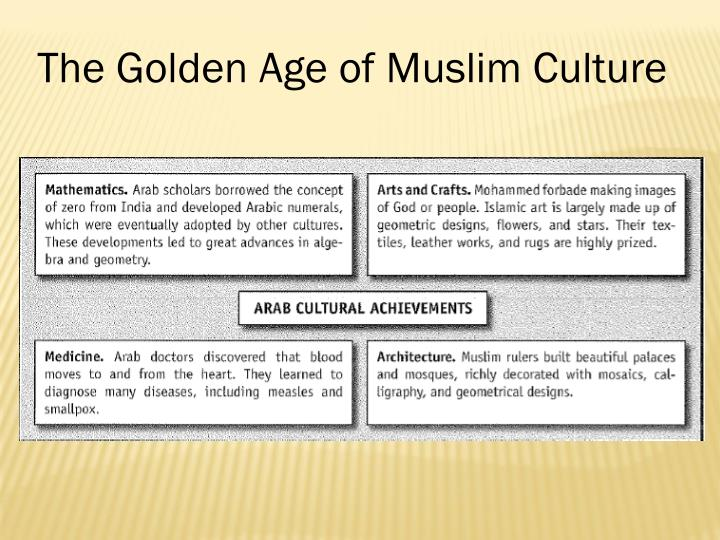 The Golden Age of Muslim Culture