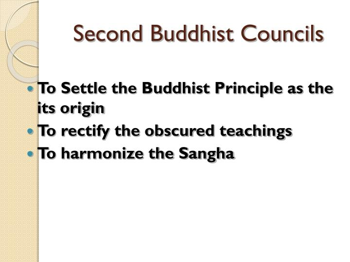 Second Buddhist Councils