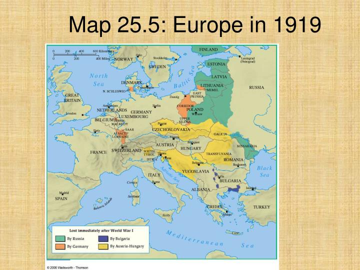 Map 25.5: Europe in 1919