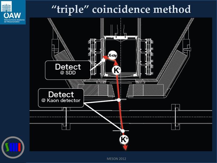 """triple"" coincidence method"
