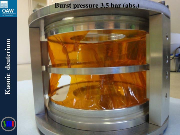 Burst pressure 3.5 bar (abs.)