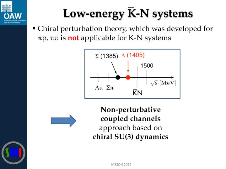 Low-energy K-N systems
