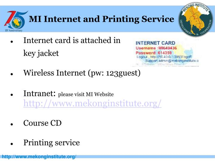 MI Internet and Printing Service