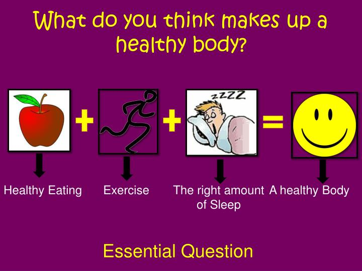 What do you think makes up a healthy body