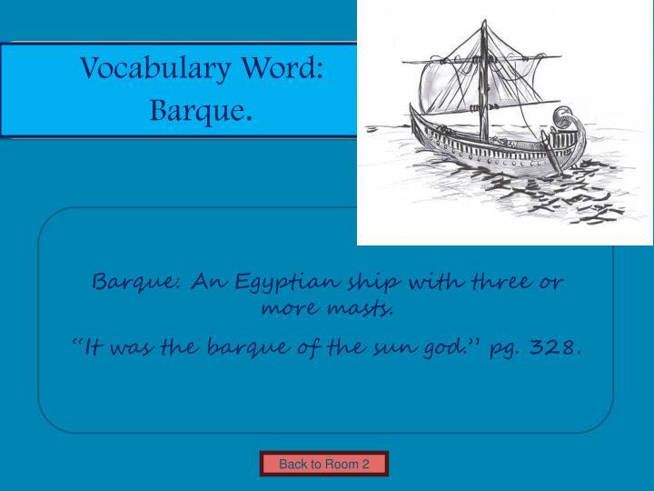 Vocabulary Word: