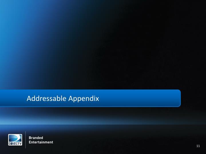 Addressable Appendix