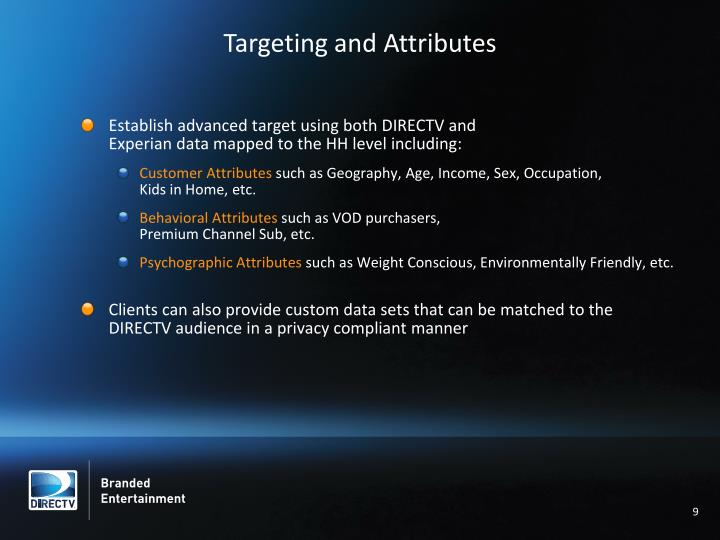 Targeting and Attributes