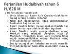 perjanjian hudaibiyah tahun 6 h 628 m
