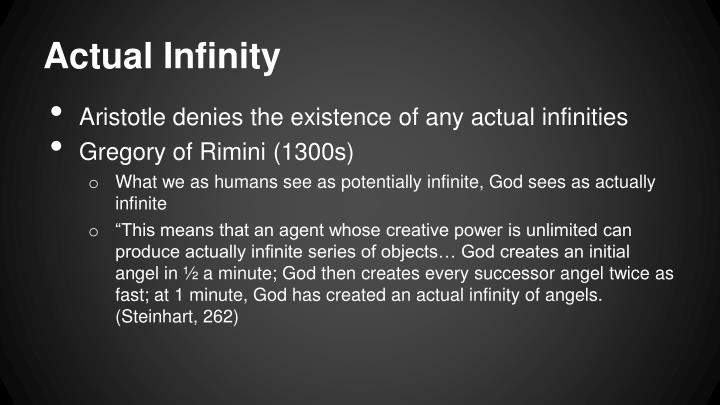 Actual Infinity
