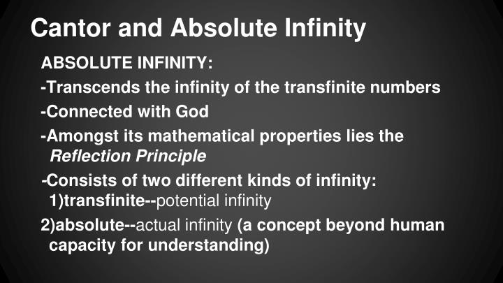 Cantor and Absolute Infinity