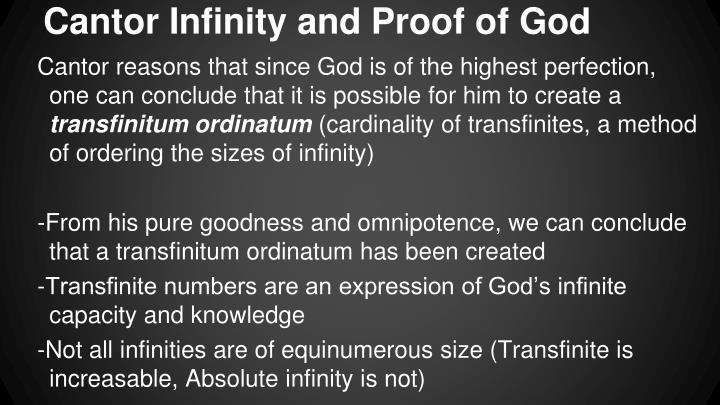 Cantor Infinity and Proof of God