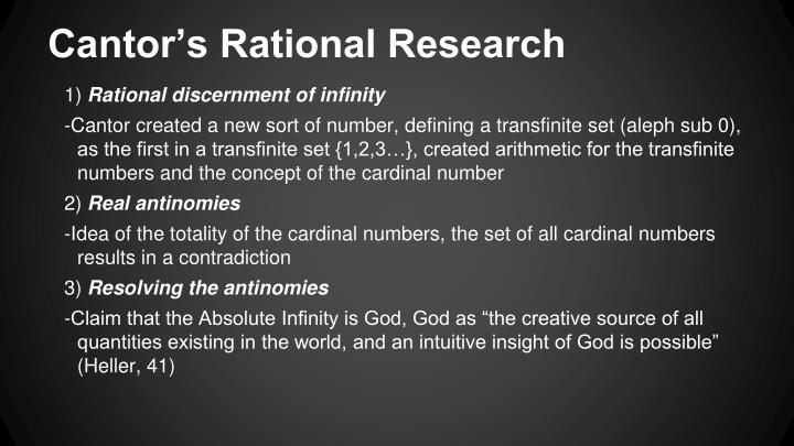 Cantor's Rational Research