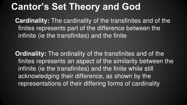Cantor's Set Theory and God