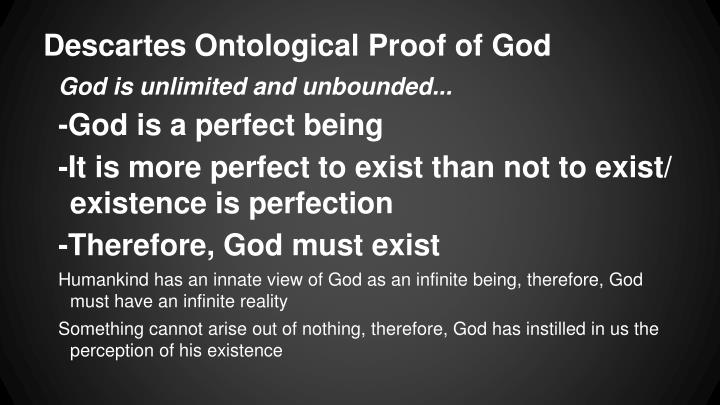 Descartes Ontological Proof of God