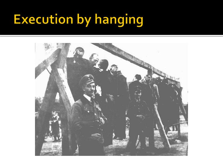 Execution by hanging