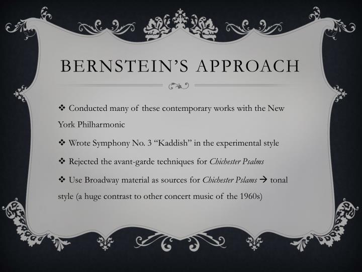 Bernstein's Approach