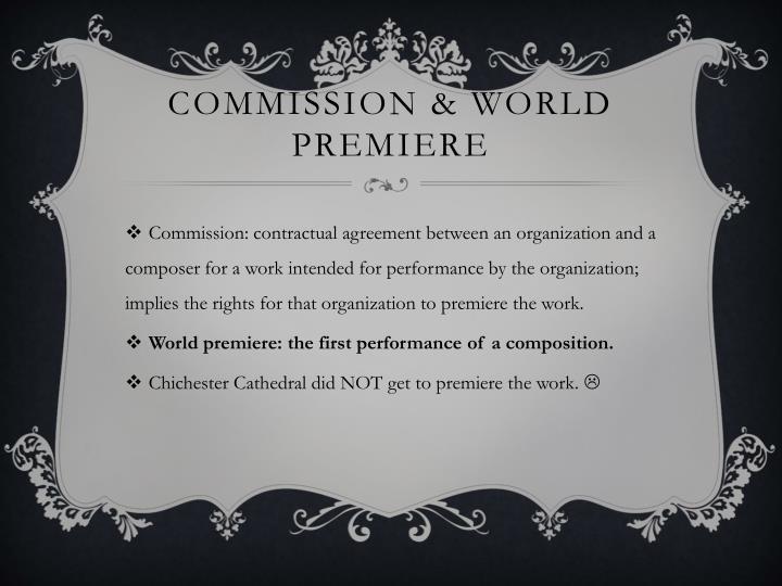 Commission & World Premiere