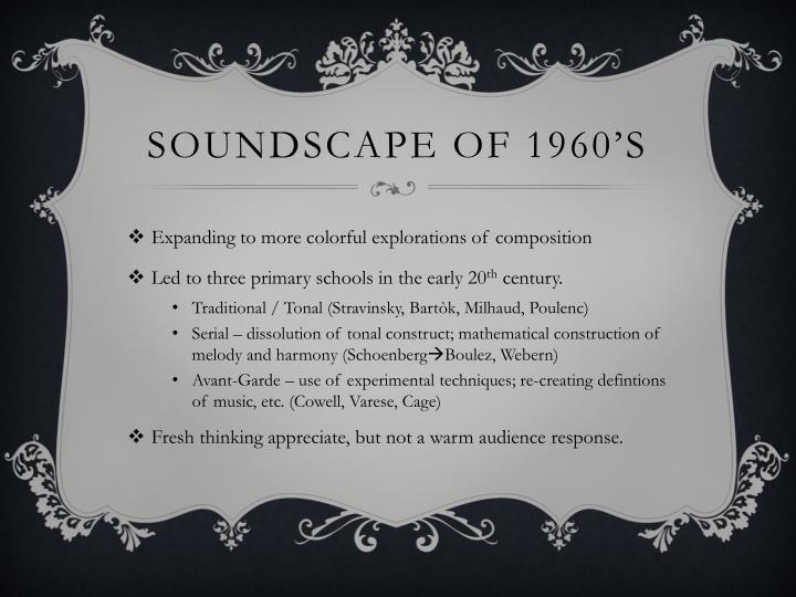 Soundscape of 1960's