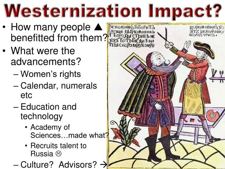 Westernization Impact?