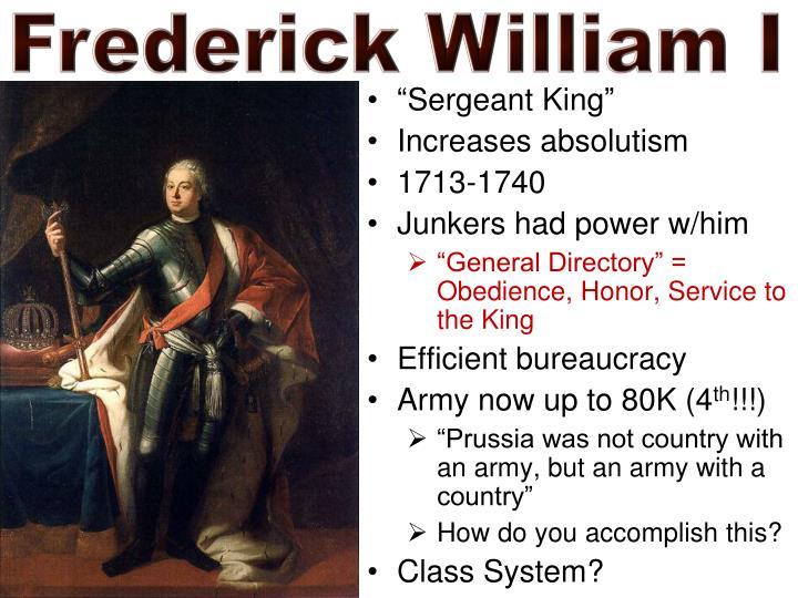Frederick William I