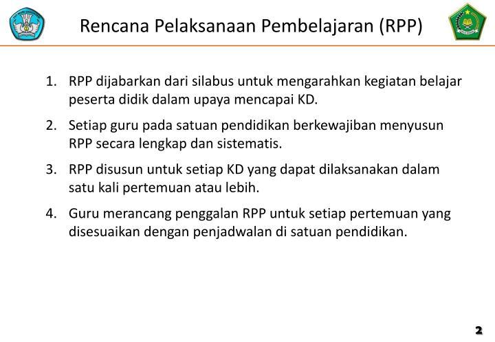 Rencana Pelaksanaan Pembelajaran (RPP)