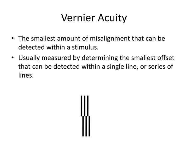 Vernier Acuity